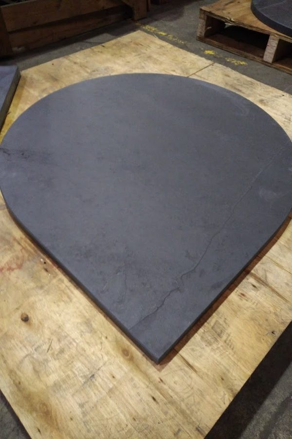 Teardrop slate hearth example