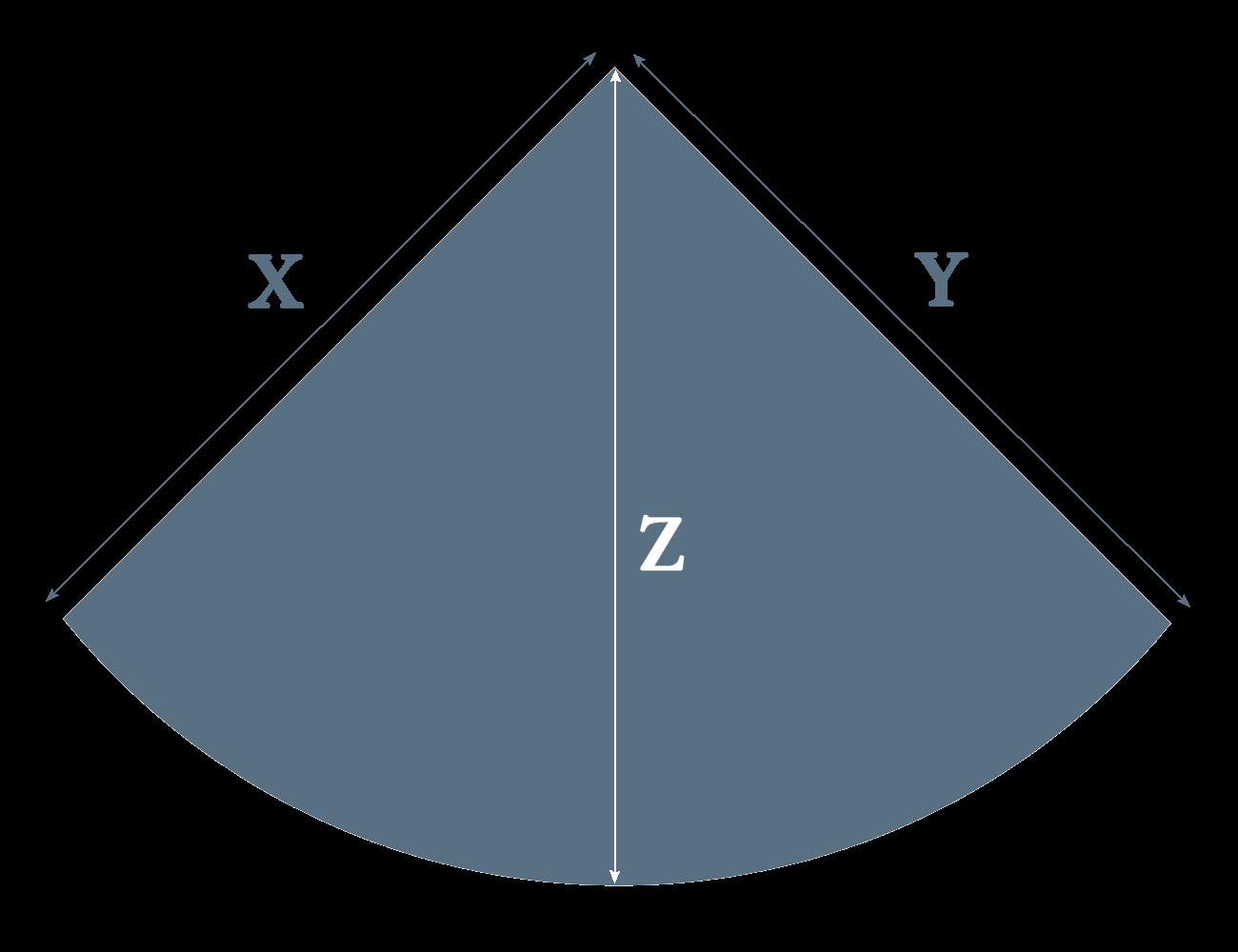 corner slate heart measurement diagram